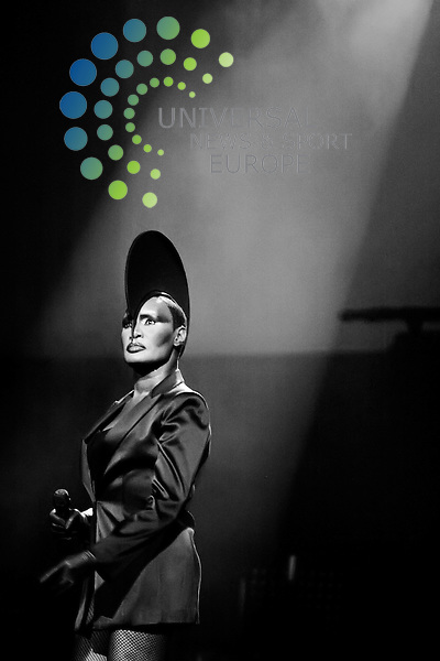 Grace Jones, a stylised set of photographs at her Glasgow gig on January 22 2009 at the Clyde Auditorium...Picture:Peter Kaminski/Universal News and Sport (Scotland)