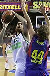Euroleague el FC Barcelona guanya 83 -82 al Panathinaikos en el primer partit del playoff. Kaimakoglou tira a cistella