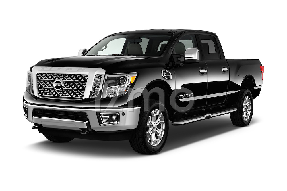 2016 Nissan Titan SL 4 Door Pickup Angular Front stock photos of front three quarter view
