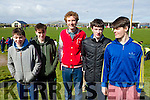 Muiris Lynch (Baile An Éanaigh), Fergal Cooney, Eoghan Begley (Ballydavid) Padraig Ó Hógáin and Patrick Martin (Glens, Dingle) pictured at Gallarus GAA pitch on Saturday morning last to welcome the cast of Top Gear.