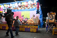 Street fair in the Alameda Park. Night bicycle rides,  Mexico City.