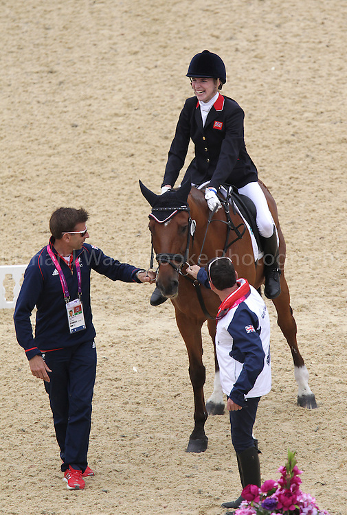 Paralympics London 2012 - ParalympicsGB - Equestrian Dressage Individual, Ind. Championship Test - Grade Ia..Sophie Christiansen with her horse Janeiro 6 competing in the  Individual, Ind. Championship Test - Grade IV  2nd September 2012 at the Paralympic Games in London. (Photo: (Richard Washbrooke)/ParalympicsGB)
