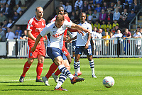 Preston North End's Louis Moult scores his team's second goal<br /> <br /> Photographer Dave Howarth/CameraSport<br /> <br /> Football Pre-Season Friendly - Bamber Bridge v Preston North End - Saturday 6th July 2019 - Sir Tom Finney Stadium - Bamber Bridge<br /> <br /> World Copyright © 2019 CameraSport. All rights reserved. 43 Linden Ave. Countesthorpe. Leicester. England. LE8 5PG - Tel: +44 (0) 116 277 4147 - admin@camerasport.com - www.camerasport.com