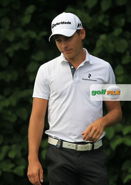 Joakim Lagergren (SWE) on the 3rd tee during the Round 2 of the 2016 BMW International Open at the Golf Club Gut Laerchenhof in Pulheim, Germany on Friday 24/06/16.<br /> Picture: Golffile | Thos Caffrey