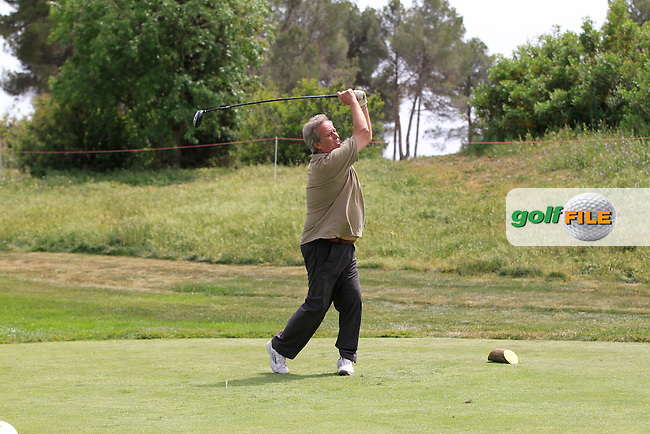 Playing with Matteo Manassero (ITA) on the 9th tee during the Pro-Am of the Open de Espana  in Club de Golf el Prat, Barcelona on Wednesday 13th May 2015.<br /> Picture:  Thos Caffrey / www.golffile.ie