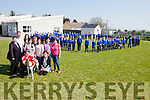 Staff, parents and pupils from Killocrim National School are planning a fundraising night at the dogs on Saturday June 18th in the Kingdom Greyhound Stadium to raise funds for a new astro-turf pitch. Staff pictured with the pupils from the school are: Catherine O'Driscoll (principal), Neilie Keane-Stack, Niamh Sullivan, Trish O'Brien, Marie Corridan, Marie Lynch, Carmel Leahy, Helen O'Connell and Eimear Joy with Colin Browne.