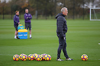 Alan Curtis watches on as the players train during the Swansea City Training at The Fairwood Training Ground, Wales, UK. Wednesday 16 November 2016