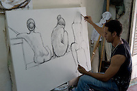 painter in Havana, Cuba