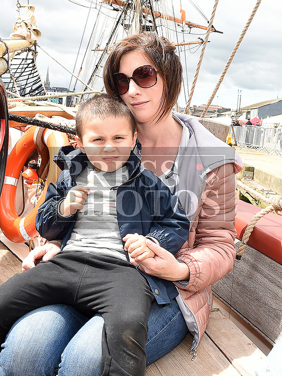 Sinead and Lochlann O'Reilly at the Drogheda Maratime Festival. Photo:Colin Bell/pressphotos.ie