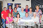 Castleisland Races committee who presented 8,405 euro worth of cheques to the Build4Life, Castleisland Day Care Centre, Castleisland Seniors Social club and the Irish Heart foundation in Brownes bar Castleisland on Saturday night front row l-r: Kay Reidy, Monica O'Sullivan, John Ryan, Monica Prenderville. Back row: Nora Butler, Pat Hartnett, Mag O'Sullivan, James Maher, Maxi Fleming, John Pender, Joan Walsh and Tina O'Connor ..