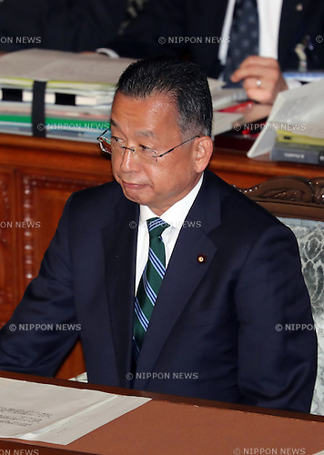 November 10, 2016, Tokyo, Japan - Japanese Agriculture Minister Yuji Yamamoto waits voting for his no-confidence motion at the Lower House plenary session at the National Diet in Tokyo on Thursday, November 10, 2016. The no-confidence motion brought by opposition parties for Yamamoto's verbal gaffes was voted down by ruling parties.  (Photo by Yoshio Tsunoda/AFLO) LWX -ytd-