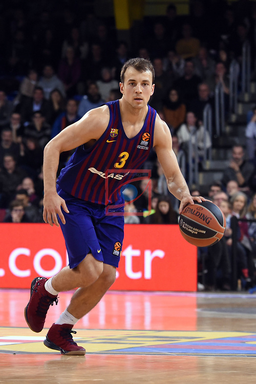 Turkish Airlines Euroleague 2018/2019. <br /> Regular Season-Round 18.<br /> FC Barcelona Lassa vs Panathinaikos Opap Athens: 79-68.<br /> Kevin Pangos.