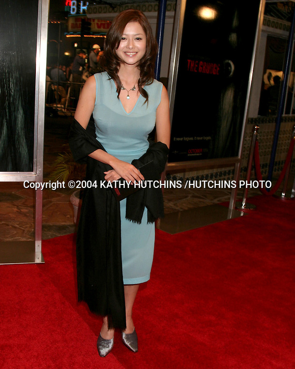 "©2004 KATHY HUTCHINS /HUTCHINS PHOTO.""THE GRUDGE"" PREMIERE.WESTWOOD, CA.OCTOBER 12, 2004..YOKO MAKI"