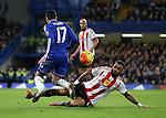 Chelsea's Pedro tussles with Sunderland's Yann M'Vila<br /> <br /> Barclays Premier League- Chelsea vs Sunderland - Stamford Bridge - England - 19th December 2015 - Picture David Klein/Sportimage