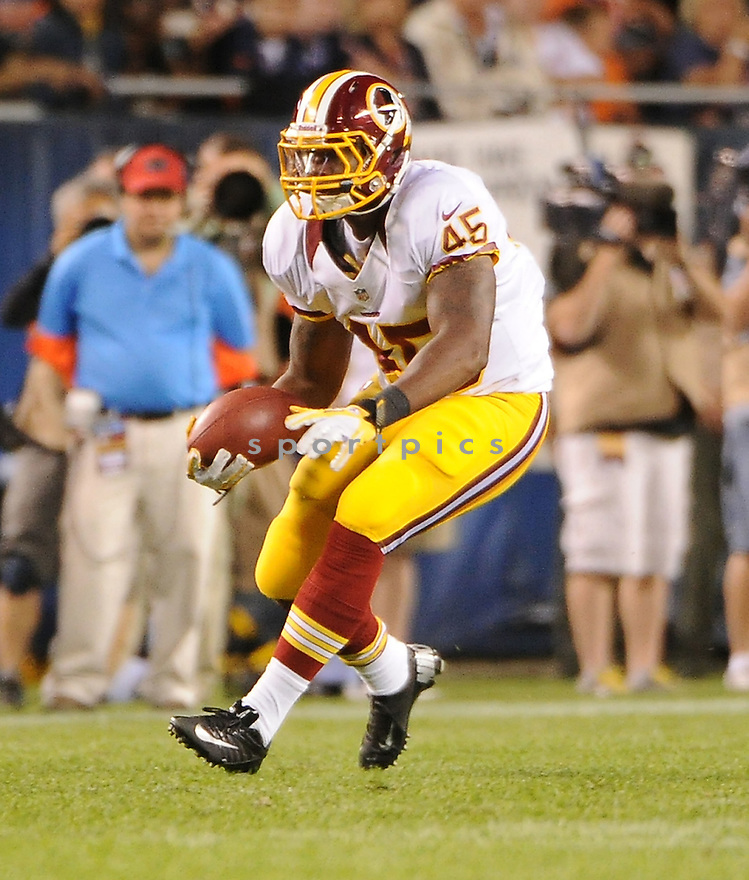 DORSON BOYCE (45), of the Washington Redskins, in action during the Redskins game against the Chicago Bears on August 18, 2012 at Soldier Field in Chicago, IL. The Bears beat the Redskins 33-31.