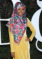 NEW YORK, NY - SEPTEMBER 09: Halima Aden arrives at the #BoF500 gala dinner during New York Fashion Week Spring/Summer 2018 at Public Hotel on September 9, 2017 in New York City. <br /> CAP/MPI/JP<br /> &copy;JP/MPI/Capital Pictures