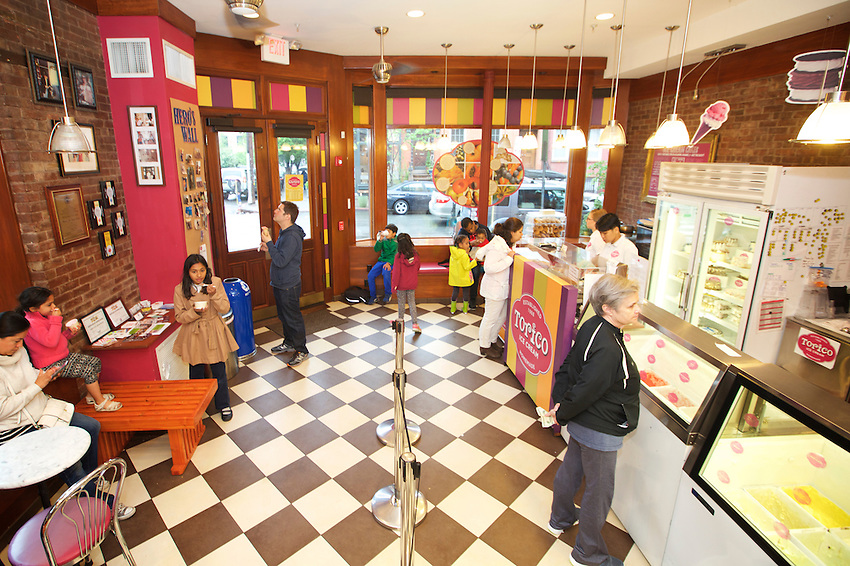 Jersey City, NJ - May 13, 2016: Torico Ice Cream has been serving tropical flavored desserts since 1968. <br /> <br /> CREDIT: Clay Williams for Gothamist.<br /> <br /> &copy; Clay Williams / claywilliamsphoto.com