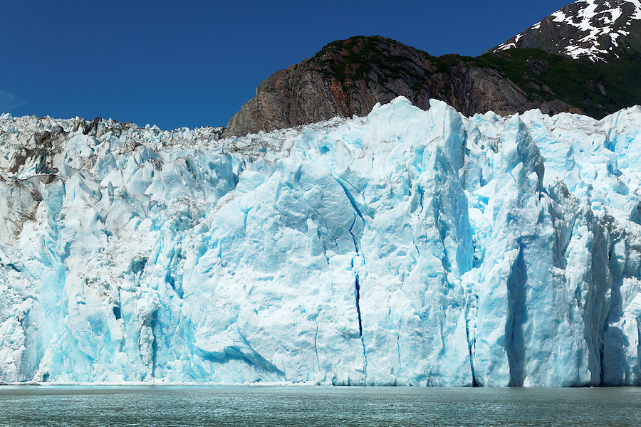 Terminus face of Sawyer Glacier, Tracy Arm, Southeast Alaska, USA