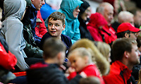 Fleetwood Town fans watch on during the second half<br /> <br /> Photographer Alex Dodd/CameraSport<br /> <br /> The EFL Checkatrade Trophy - Northern Group B - Fleetwood Town v Leicester City U21 - Tuesday September 11th 2018 - Highbury Stadium - Fleetwood<br />  <br /> World Copyright &copy; 2018 CameraSport. All rights reserved. 43 Linden Ave. Countesthorpe. Leicester. England. LE8 5PG - Tel: +44 (0) 116 277 4147 - admin@camerasport.com - www.camerasport.com