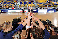 9 January 2010:  FIU's team gathers as mid-court prior to the start of the game.  The Troy Trojans defeated the FIU Golden Panthers, 61-59, at the U.S. Century Bank Arena in Miami, Florida.