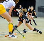Almere - Zaalhockey Amsterdam-Den Bosch (v)  .  Groen   TopsportCentrum Almere.    COPYRIGHT KOEN SUYK