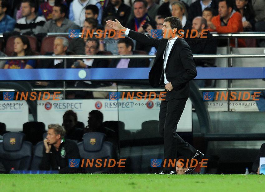 Tito Vilanova ( Entraineur Barcelone ) .Barcellona 23/10/2012 Camp Nou.Football Calcio 2012/2013 Champions League.Barcellona Vs Celtic.Foto Paco Largo / Panoramic / Insidefoto .ITALY ONLY