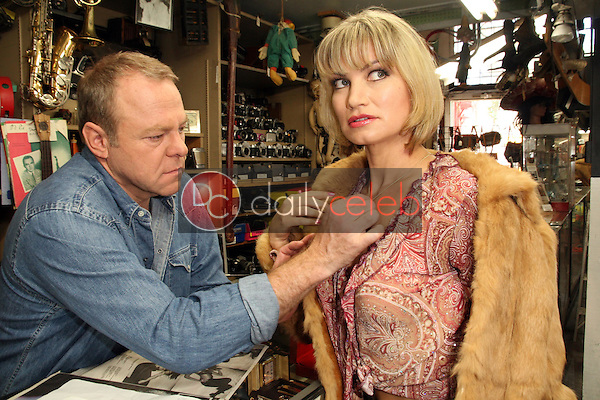 """Greg Travis and Rena Riffel<br /> on the set of """"Showgirl,"""" Private Location, West Hollywood, CA. 08-03-10<br /> David Edwards/DailyCeleb.Com 818-249-4998"""