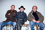 Arthur J Spring and Dick Spring with Richard Harry Laid enjoying a night at the dogs at the Kingdom Greyhound Stadium on Friday