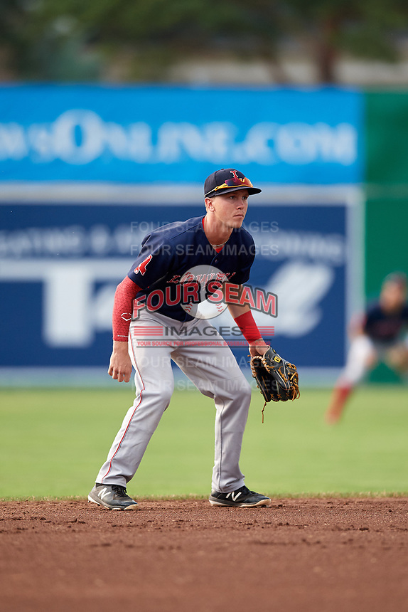 Lowell Spinners shortstop Grant Williams (11) during a game against the Batavia Muckdogs on July 16, 2018 at Dwyer Stadium in Batavia, New York.  Lowell defeated Batavia 4-3.  (Mike Janes/Four Seam Images)