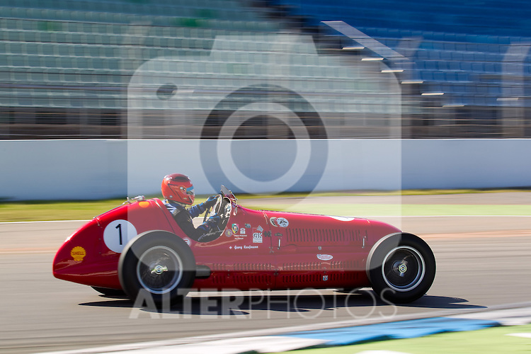 17.04.2010, Hockenheimring, Hockenheim, Hockenheim Historic, Race History On Track, im Bild von links Georg Kaufmann, Maserati 4CLT, EXPA Pictures © 2010, PhotoCredit: EXPA/ A. Neis