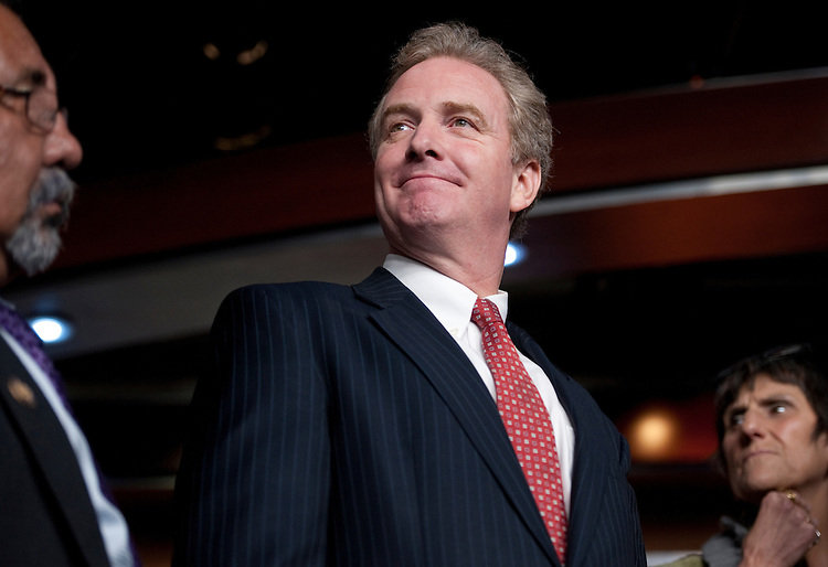 UNITED STATES - JULY 25: House Budget Committee ranking member Chris Van Hollen, D-Md., waits on his turn to speak during the House Democrats' news conference on jobs on Monday, July 25, 2011. (Photo By Bill Clark/Roll Call)