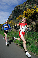 13 MAY 2006 - EDINBURGH, UK - Helen Lawrence (right) leads Catriona Morrison (left) during the Elite Women's race at the British Duathlon Championships (PHOTO (C) 2006 NIGEL FARROW)