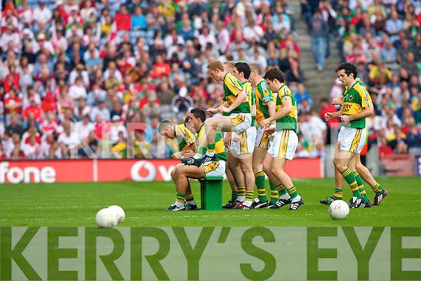 Kerry team, Kerry v Tyrone All ireland Final 2008 at Croke Park Dublin 21st September 2008.