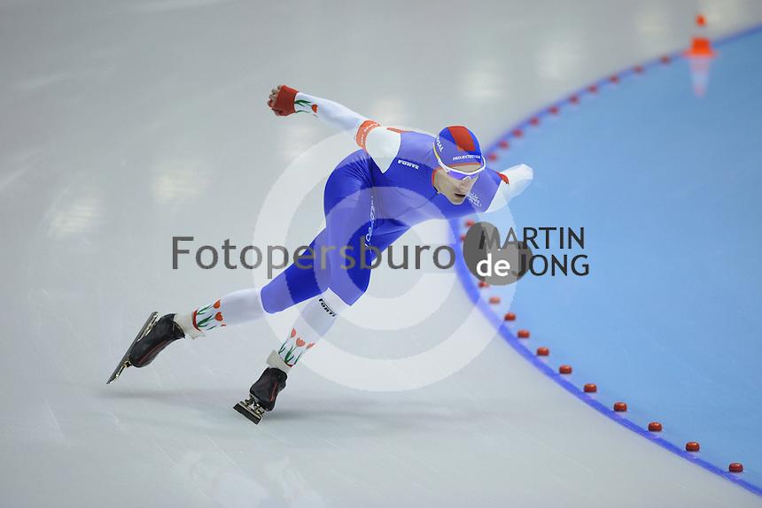 SCHAATSEN: HEERENVEEN: IJsstadion Thialf, 10-11-2012, KPN NK afstanden, Seizoen 2012-2013, 1500m Heren, Thom van Beek, ©foto Martin de Jong