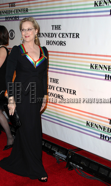 Meryl Streep.arriving for the 34th Kennedy Center Honors Presentation at Kennedy Center in Washington, D.C. on December 4, 2011