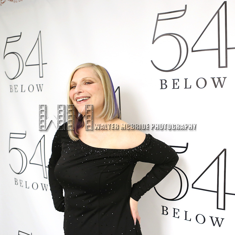 """Roslyn Kind backstage before performing her new show """"It's Been a While""""  at 54 Below on April 6, 2014 in New York City."""