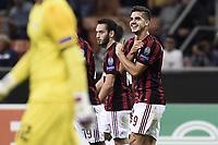 esultanza gol Andre Silva Milan Goal celebration <br /> Milano 28-09-2017 Stadio Giuseppe Meazza Football Europa League 2017/2018 Group D Milan - Rijeka Foto Image/Insidefoto