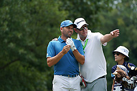 Sergio Garcia (ESP) on the 18th tee during Wednesday's Practice Day of the 2017 PGA Championship held at Quail Hollow Golf Club, Charlotte, North Carolina, USA. 9th August 2017.<br /> Picture: Eoin Clarke | Golffile<br /> <br /> <br /> All photos usage must carry mandatory copyright credit (&copy; Golffile | Eoin Clarke)
