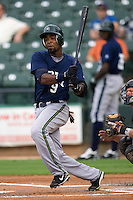 Dawkins, Gookie 3012.jpg.  PCL baseball featuring the New Orleans Zephyrs at Round Rock Express  at Dell Diamond on June 19th 2009 in Round Rock, Texas. Photo by Andrew Woolley.