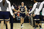 18 February 2016: Notre Dame's Michaela Mabrey (23). The Wake Forest University Demon Deacons hosted the University of Notre Dame Fighting Irish at Lawrence Joel Veterans Memorial Coliseum in Winston-Salem, North Carolina in a 2015-16 NCAA Division I Women's Basketball game. Notre Dame won the game 86-52.