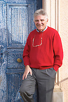 Guido Jansegers Chateau Mansenoble. In Moux. Les Corbieres. Languedoc. A door. Owner winemaker. France. Europe.