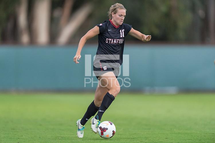 September 6, 2013: Sydney Payne during the Stanford vs Loyola Marymount women's soccer match in Stanford, California.  Stanford won 4-0.