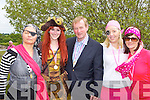 Taoiseach Enda Kenny meets some pirates who rowed in the Pink Race at the Killarney Regatta on Sunday l-r: Geraldine Doherty, Emma Brosnan, Claire O'Donoghue and Deborah Wynne ..