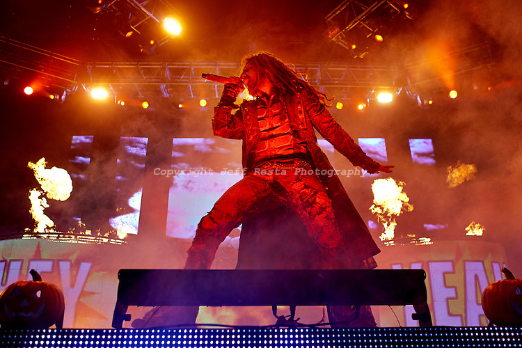Rob Zombie & Marilyn Manson live in concert at the Verizon Theatre on October 31, 2012 in Grand Prairie, TX.  Twins of Evil Tour.