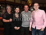 Gabriel McLoughlin celebrating his 50th birthday with partner Rondy Smith, Gabriel's son Caolán and Rondy's daughter Aoibhin. Photo:Colin Bell/pressphotos.ie