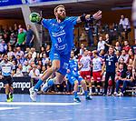 SPAETH, Manuel (#9 TVB 1898 Stuttgart) \ beim Spiel in der Handball Bundesliga, TVB 1898 Stuttgart - Die Eulen Ludwigshafen.<br /> <br /> Foto &copy; PIX-Sportfotos *** Foto ist honorarpflichtig! *** Auf Anfrage in hoeherer Qualitaet/Aufloesung. Belegexemplar erbeten. Veroeffentlichung ausschliesslich fuer journalistisch-publizistische Zwecke. For editorial use only.