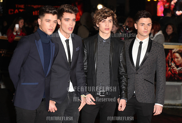 Union J arriving for The Hunger Games, Catching Fire World Premiere, London Leicester Square. 11/11/2013 Picture by: Alexandra Glen / Featureflash
