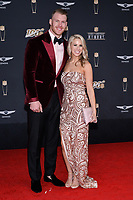 MIAMI, FL - FEBRUARY 1: Kyle Rudolph and Jordan Rudolph attend the 2020 NFL Honors at the Ziff Ballet Opera House during Super Bowl LIV week on February 1, 2020 in Miami, Florida. (Photo by Anthony Behar/Fox Sports/PictureGroup)