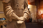 "Armored General statue, one of eight terracotta statues in the ""Terra Cotta Warriors: The Emperor's Painted Army,"" Exhibit directly from Xian in the Shaanxi Province, China which debuted in 2014 at the Children's Museum, Indianapolis, Indiana, USA"