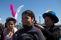 Bolivians Women part during a rally for Immigration at Liberty State Park in New Jersey , April 06, 2013. VIEWpress /Kena Betancur